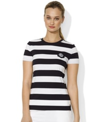 Lauren Ralph Lauren Petite Striped Crew Neck T Shirt