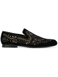 Jimmy Choo Sloane Loafers Men Calf Leather Leather Velvet 42 Blue
