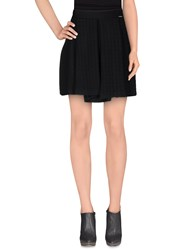 Fly Girl Knee Length Skirts Black