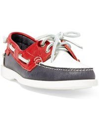 Polo Ralph Lauren Team Usa Boat Shoe Navy White Red