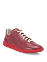 Maison Martin Margiela Replica Two Tone Leather Sneakers Red