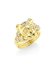 Temple St. Clair Large Lion Cub Diamond And 18K Yellow Gold Ring