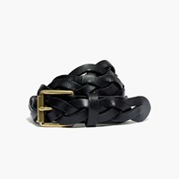 Madewell Plaited Leather Belt True Black