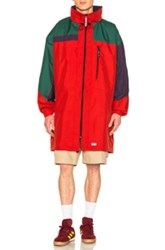 Martine Rose Oversized Raincoat In Blue Red Green Purple Blue Red Green Purple