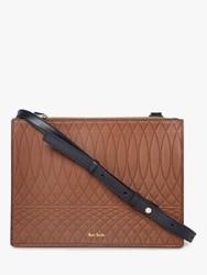 Paul Smith No.9 Leather Cross Body Bag 68_Brown