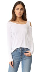 Feel The Piece Riri Cold Shoulder Top White