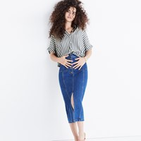 Madewell Central Shirt In Stripe Classic Deep Navy