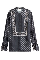 3.1 Phillip Lim Silk Tunic Blouse Blue