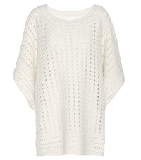 Chloe Alpaca And Wool Blend Sweater Neutrals