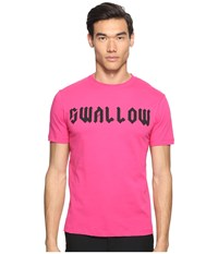 Mcq By Alexander Mcqueen Gothic Swallow Short Sleeve T Shirt Iconic Pink Men's T Shirt