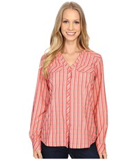 Exofficio Airhart Long Sleeve Shirt Hot Coral Women's Long Sleeve Button Up Red