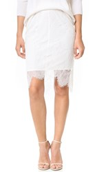 Cupcakes And Cashmere Grant Scalloped Edge Lace Skirt Dirty White
