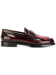 Burberry Bedmoore Loafers Leather Pink Purple