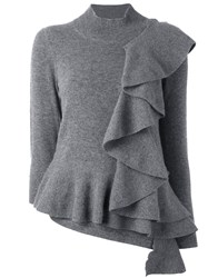 Antonio Marras Ruffle Detail Jumper Grey