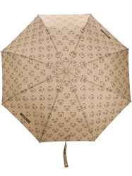 Moschino Teddy Bear Pattern Umbrella Gold
