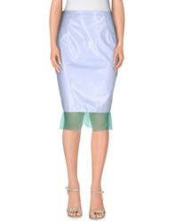 Aquilano Rimondi Knee Length Skirts Lilac