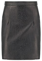 American Apparel Leather Skirt Black