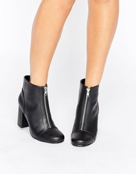 New Look Front Zip 60'S Boot Black