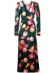 F.R.S For Restless Sleepers Floral Print Maxi Dress Green