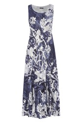 Roman Originals Printed Bias Cut Dress Navy