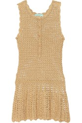 Melissa Odabash Rosie Metallic Crochet Knit Dress