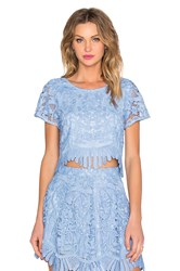 Lovers Friends Daycation Crop Top Blue