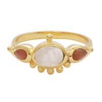 Carousel Jewels Moonstone And Carnelian Antique Ring