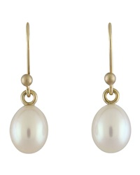 Ted Muehling Small White Pearl Earrings White