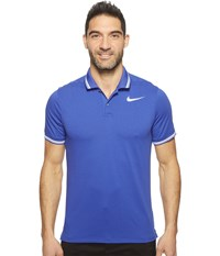 Nike Modern Fit Tr Dry Tipped Polo Deep Night Heather White White Men's Short Sleeve Pullover Blue