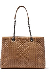 Bottega Veneta Shopping Intrecciato Leather Tote Light Brown