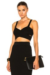 Cushnie Et Ochs Cross Over Bra Top In Black