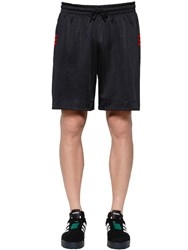 Adidas By Alexander Wang Aw Logo Jacquard Track Shorts Black Red