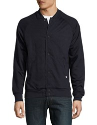 Sovereign Code Quilted Knit Bomber Jacket Navy