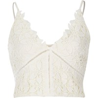 River Island Womens Cream Lace Bralet