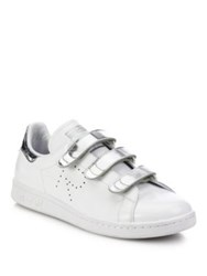 Raf Simons Stan Smith Grip Tape Leather Sneakers White Silver
