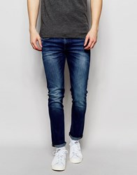 Boss Orange Jeans In Stretch Denim Skinny Fit Blue