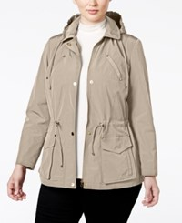 Charter Club Plus Size Hooded Anorak Jacket Only At Macy's Sand