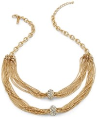 Inc International Concepts Two Row Crystal Cluster Chain Necklace Only At Macy's