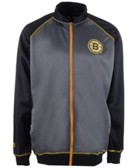 Majestic Men's Boston Bruins Wow Track Jacket Charcoal Black