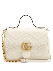 Gucci Gg Marmont Small Quilted Leather Shoulder Bag White