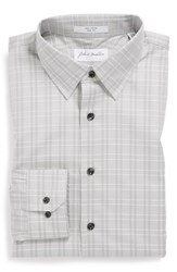 Men's John W. Nordstrom Plaid Trim Fit Dress Shirt
