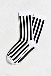 Urban Outfitters Referee Stripe Sock Black White