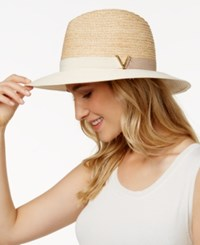 Vince Camuto Colorblock V Panama Hat Whey