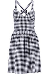 Red Valentino Redvalentino Gingham Stretch Twill Mini Dress White