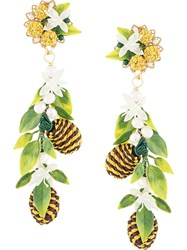 Mercedes Salazar Tropical Earrings Green