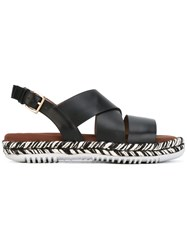 Marni Braided Sole Sandals Black