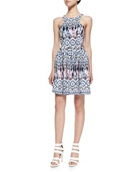 Amanda Uprichard Elle Sleeveless Sand Dollar Printed Dress