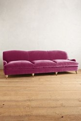 Anthropologie Velvet Glenlee Grand Sofa Wilcox Sangria
