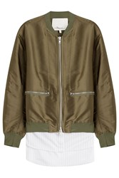 3.1 Phillip Lim Bomber Jacket With Silk Cardigan Lining