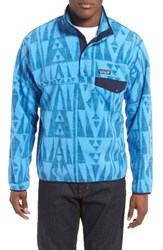 Patagonia Men's 'Synchilla Snap T' Fleece Pullover Blue